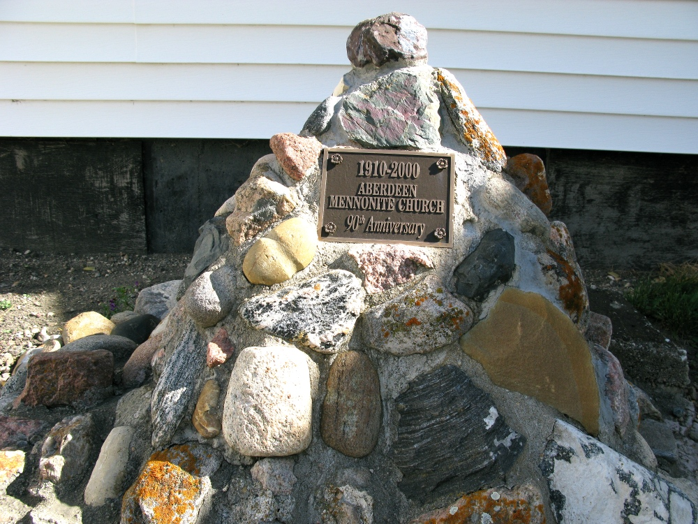 Aberdeen Mennonite Church's 90th anniversary memorial stones