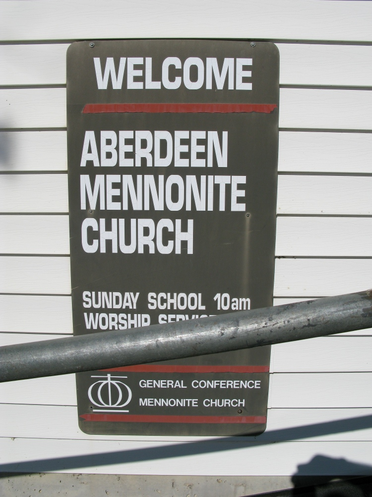 Aberdeen Mennonite Church - Sign