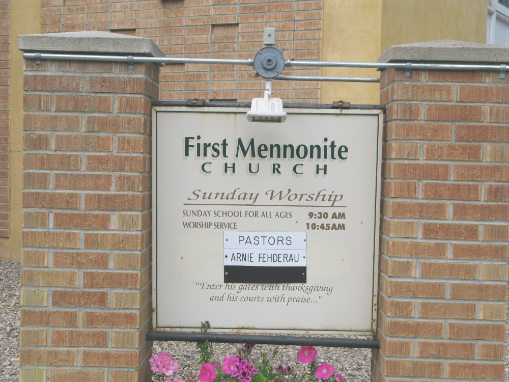 First Mennonite Church - Sign