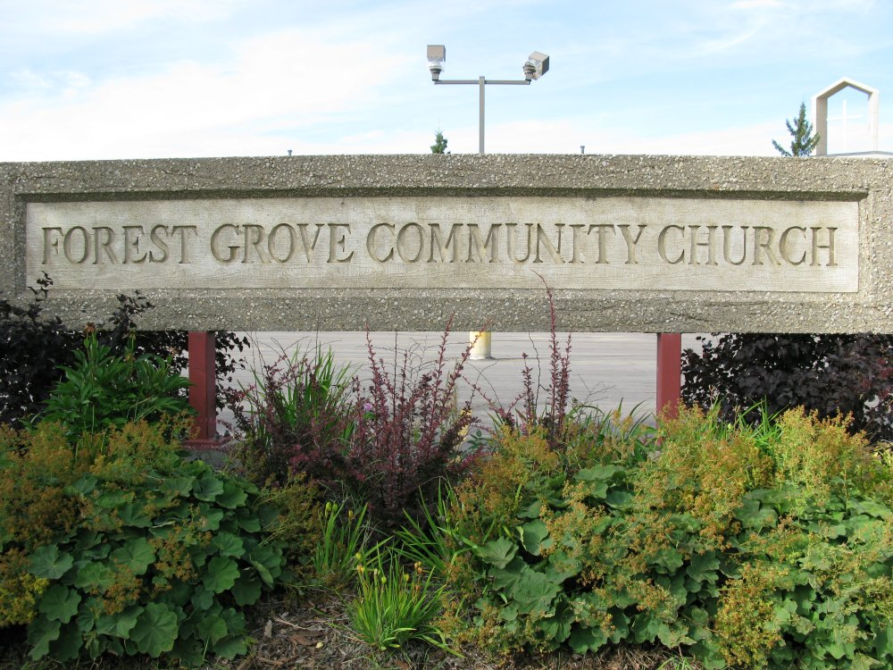 Forest Grove Community Church - sign