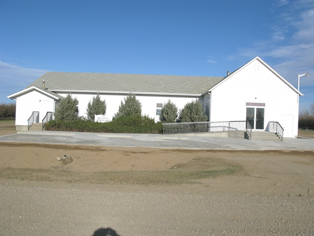 The south/front view of the Gruenthal Bergthal Mennonite Church