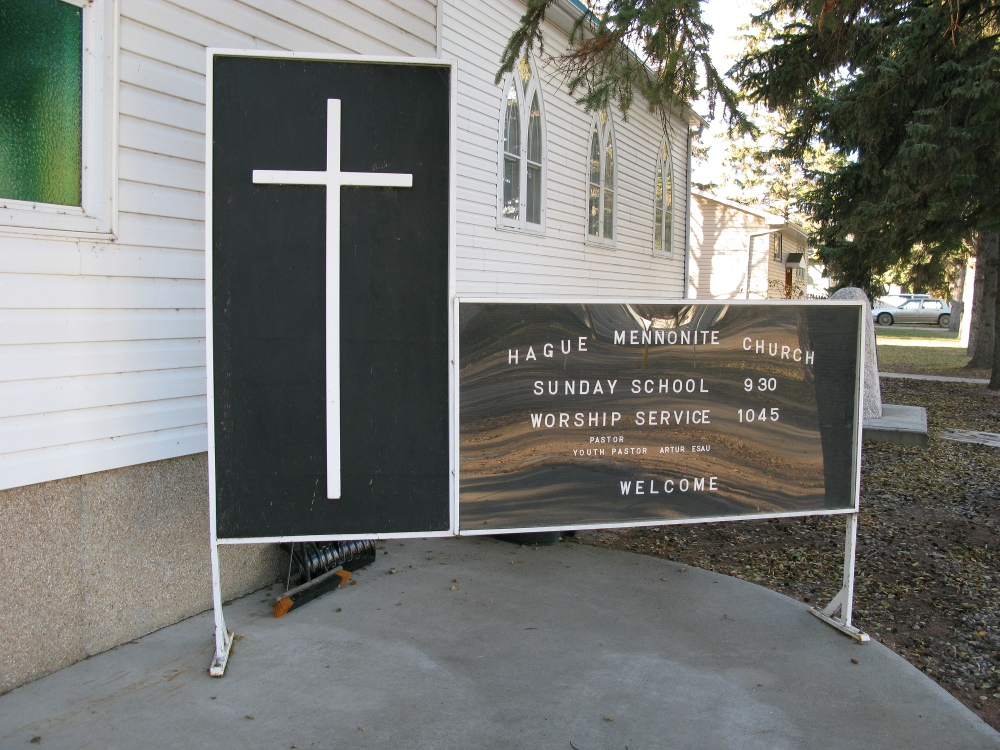 Sign for Hague Mennonite Church