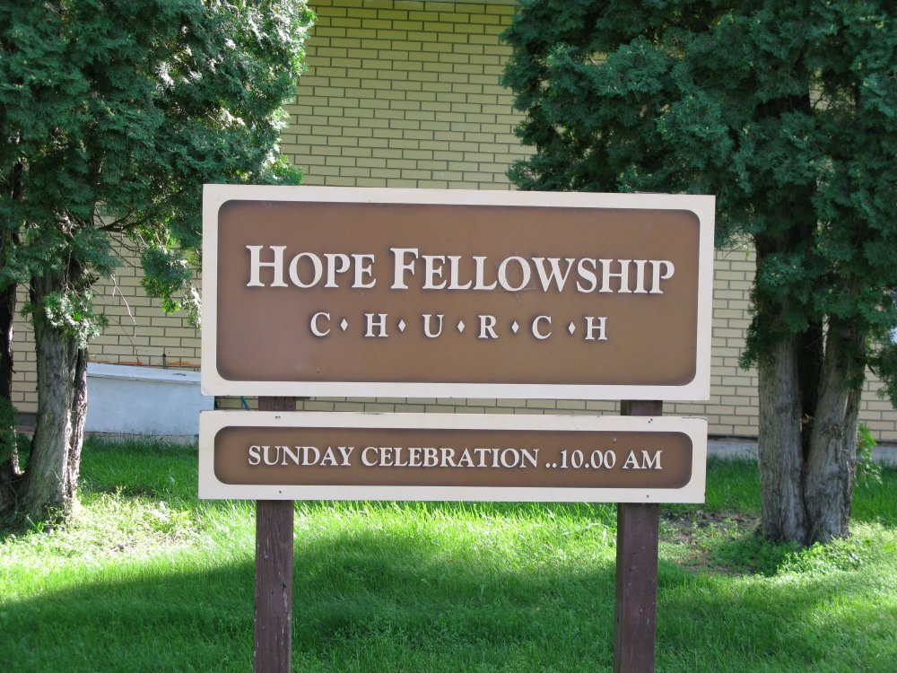 Hope Fellowship Church- sign