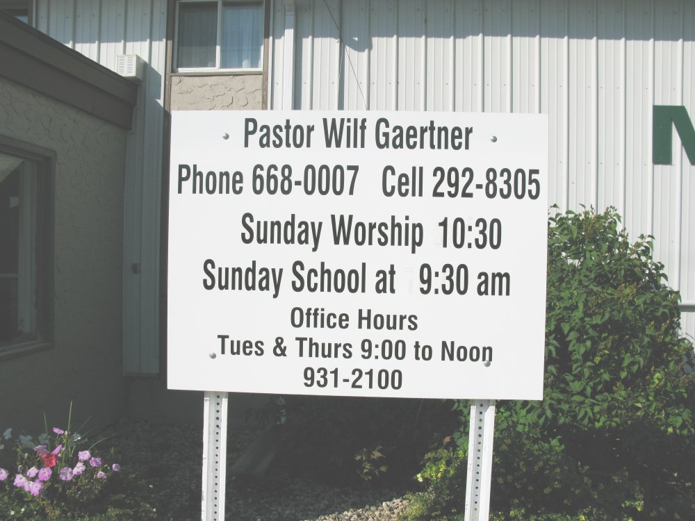 Sign - Martensville Mission Church