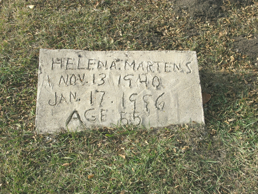 Neuanlage Cemetery - Helena A. Martens stone