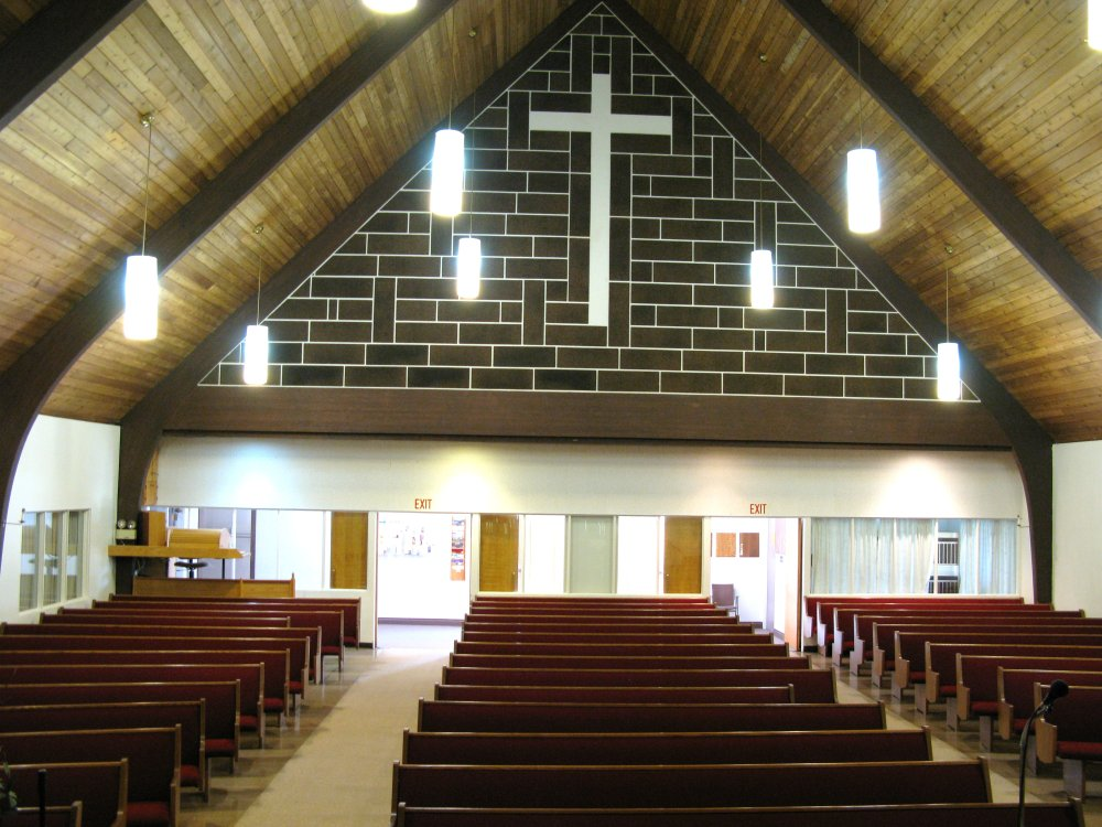 interior - looking back - Nutana Park Mennonite Church