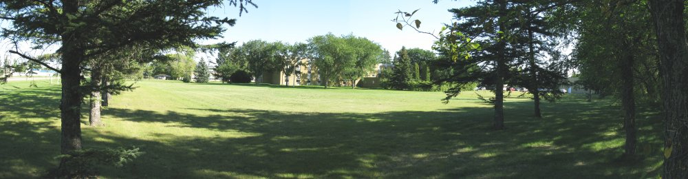panoramic view of Rosthern Heritage Museum from RJC