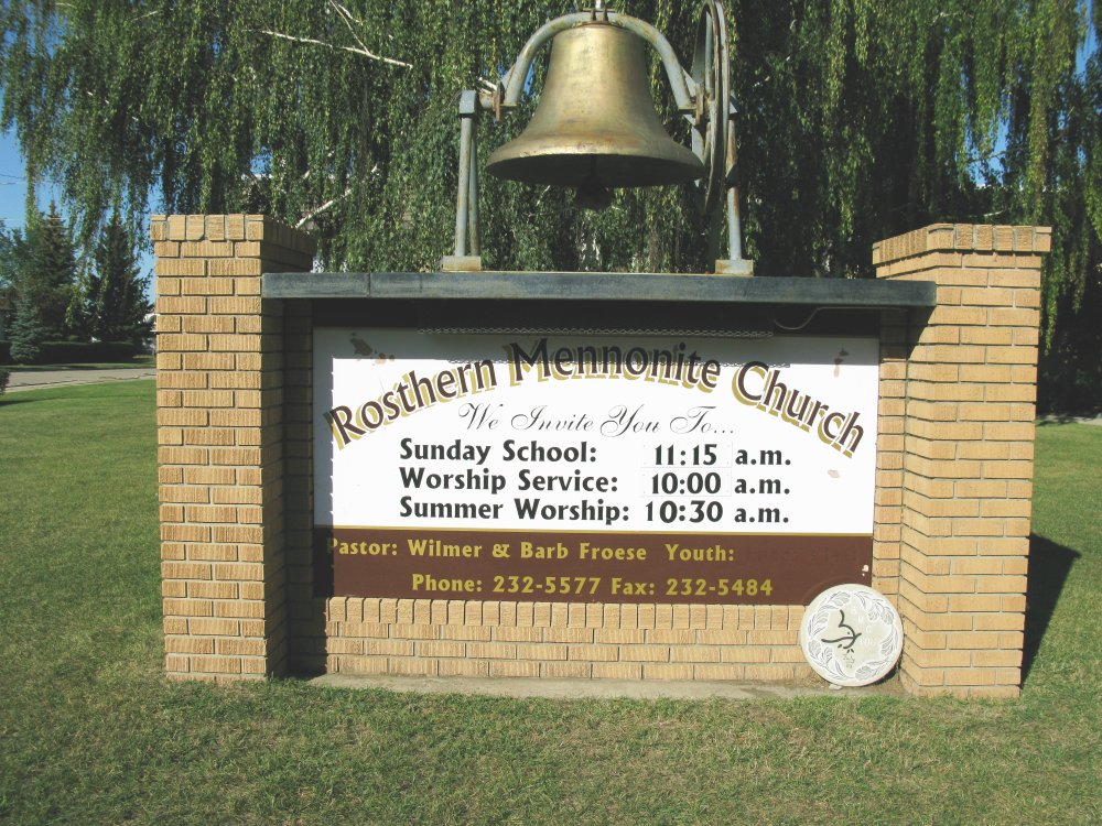 Rosthern Mennonite Church Sign