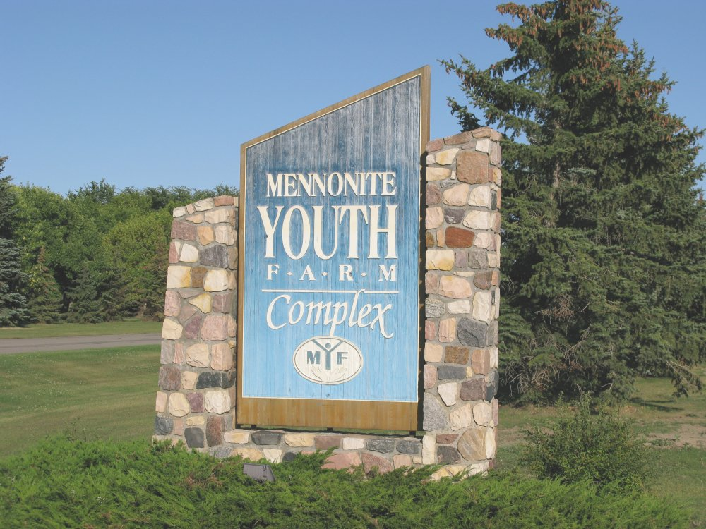 Mennonite Youth Farm Complex -sign at Rosthern