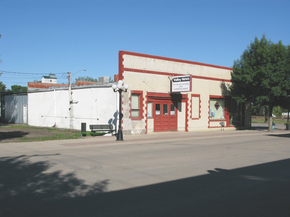 Saskatchewan Valley News office front