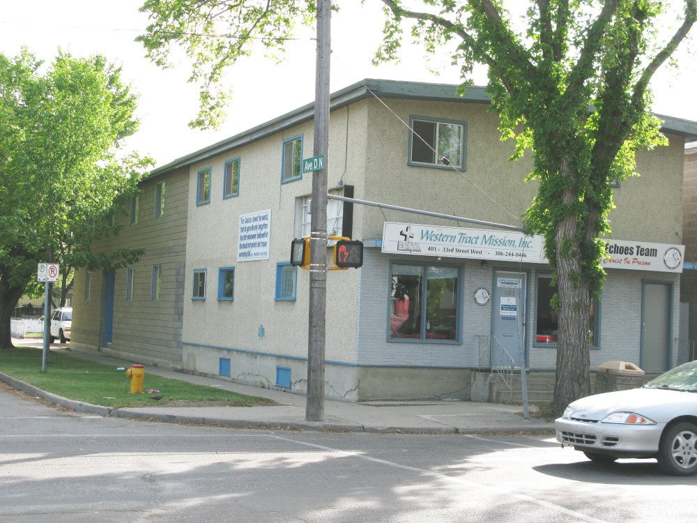Western Tract Mission, Inc. and Gospel Echoes in front office