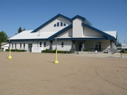 Bergthaler Mennonite Church in Warman - front entrance