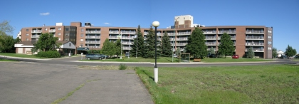 panoramic view of the Bethany Manor high rises