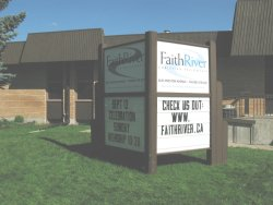 Faith River Mennonite Church -Sign