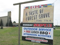 Forest Grove advertising itself to the community