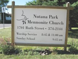 Sign - Nutana Park Mennonite Church