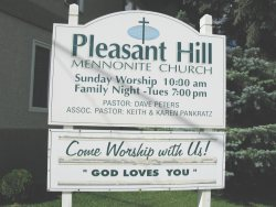 Sign for Pleasant Hill Mennonite Church