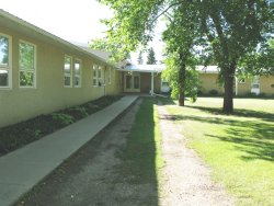 Rosthern Mennonite Home for the Aged - path to door