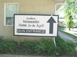 Rosthern Mennonite Home for the Aged - sign
