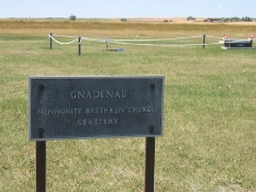 Gnadenau Mennonite Brethren Church - cemetery