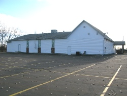 Gruenthal Church - parking lot at back west