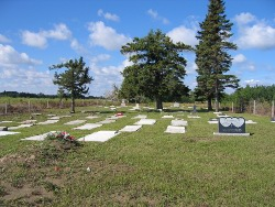 tombstones of Bethany Mennonite church - at Lost River, SK.