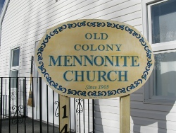 The Old Colony Mennonite Church in Neuanlage, SK