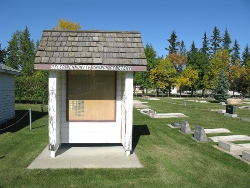 Osler Mennonite Church - cemetery map