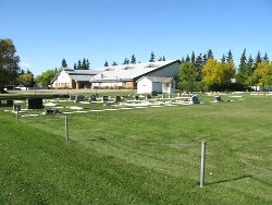 Osler Mennonite Church - from over the cemetery