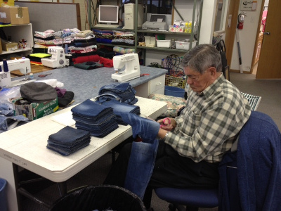 John Kurylyk - volunteer at Warman Thrift store