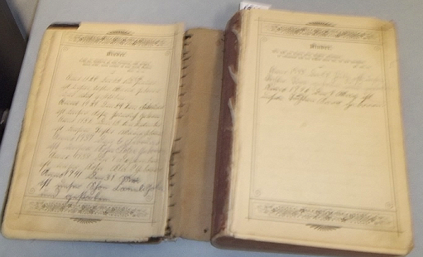 the fourth and fifth pages of the Family Record.