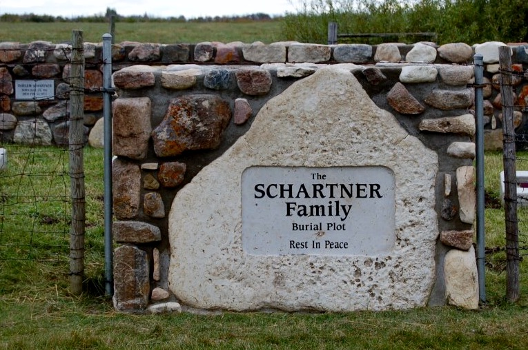 Schartner Family Burial Plot Memorial stone