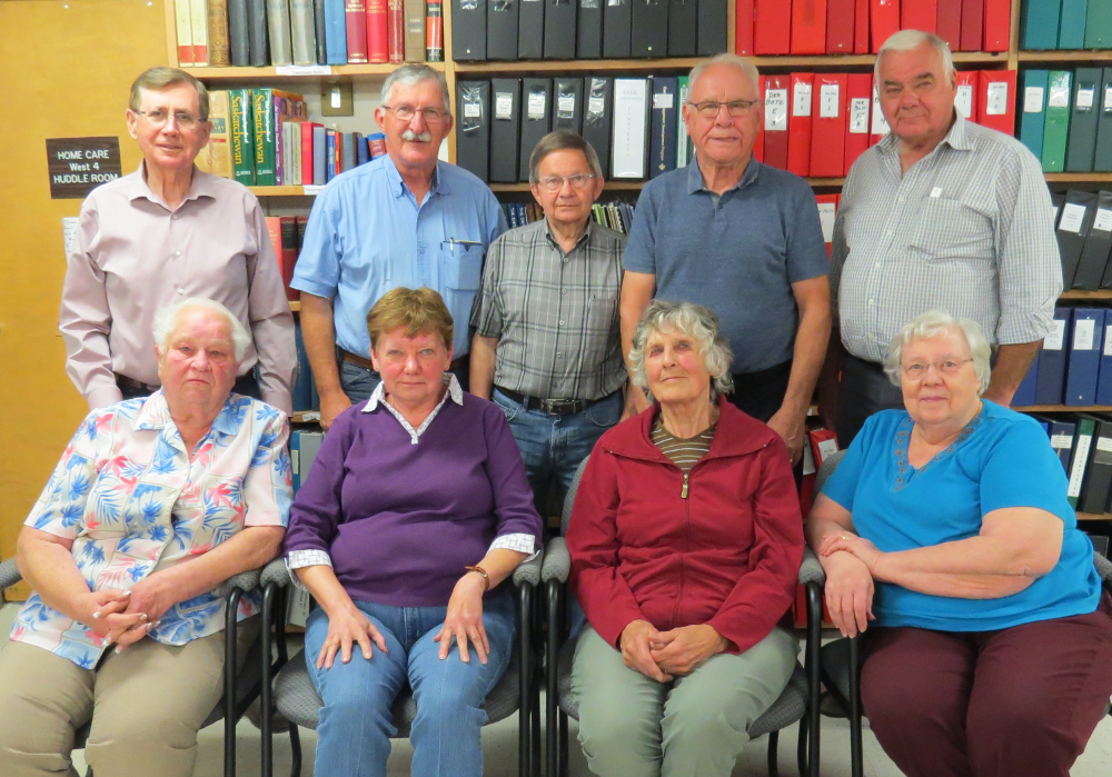 The Board of the Mennonite Historical Society of Saskatchewan (MHSS) in 2017